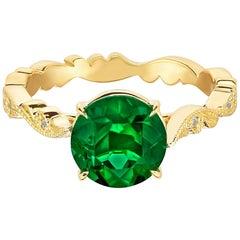 Marisa Perry Zambian Emerald Diamond Engagement Ring Chantilly Lace Design