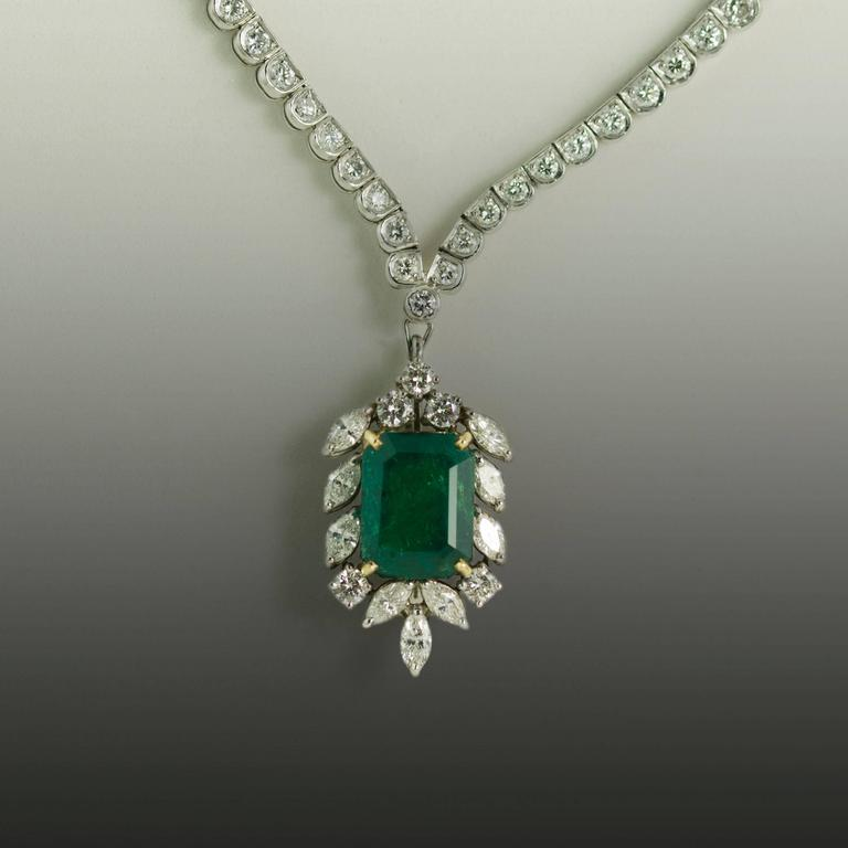 white gold pav and phab detailmain lrg main oval pendant in emerald ca diamond