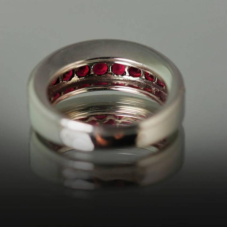 Women's or Men's Mauboussin Ruby Gold Ring For Sale