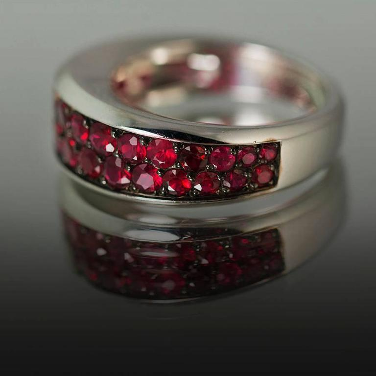 Modern Mauboussin Ruby Gold Ring For Sale