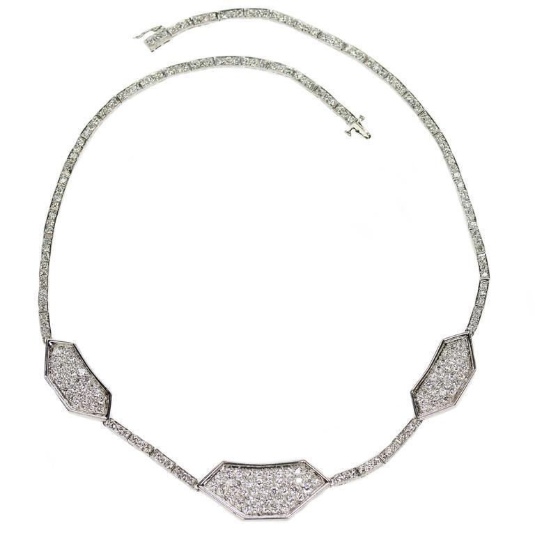 Diamond Gold Medallion Necklace