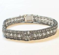 Stunning Platinum Art Deco Bracelet