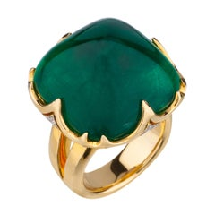 18 Karat Colombian Emerald Ring
