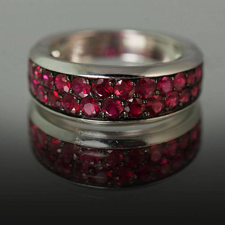 Mauboussin Ruby Gold Ring In Excellent Condition For Sale In Sarasota, FL