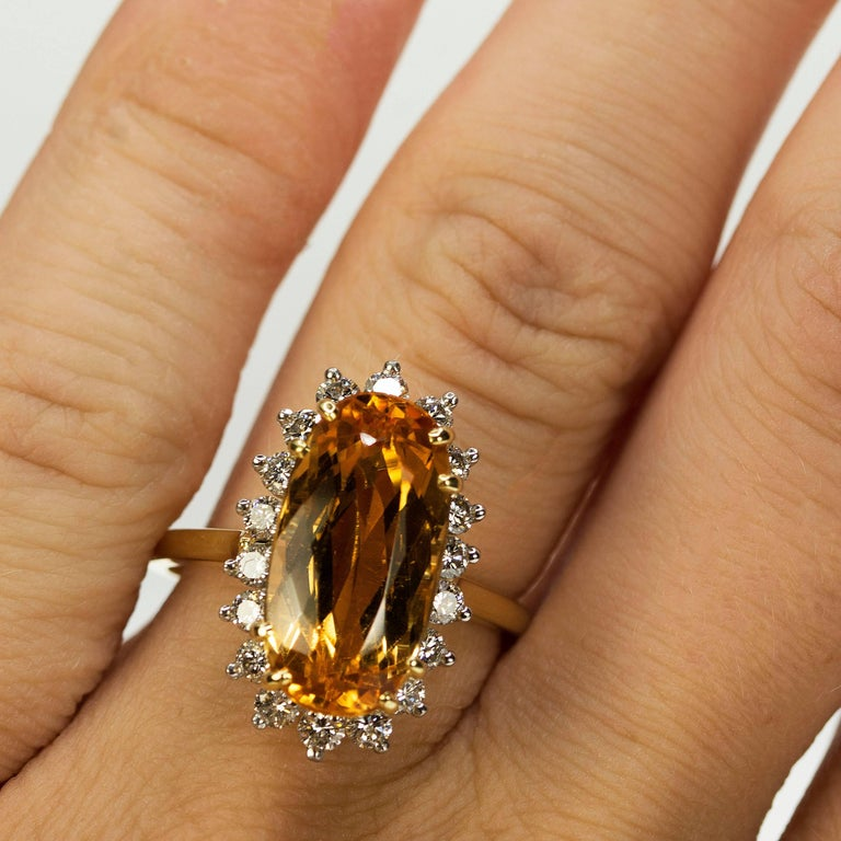 Women's or Men's Imperial Topaz Ring For Sale