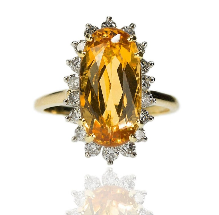 Imperial Topaz Ring In Excellent Condition For Sale In Sarasota, FL