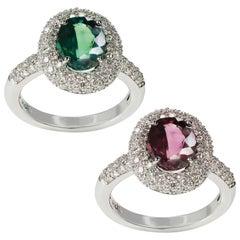 Spectacular 2.93 Carat GIA Certified Alexandrite Diamond Gold Ring