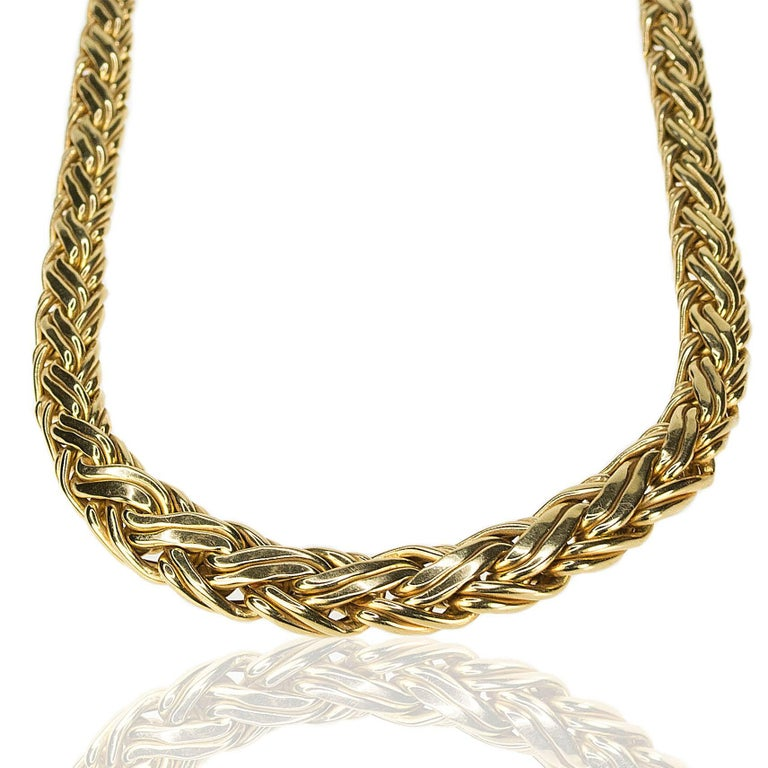 Tiffany & Co. Russian Weave Necklace and Bracelet Suite In Excellent Condition For Sale In Sarasota, FL