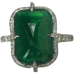 Platinum Ring with Gubelin Certified Emerald
