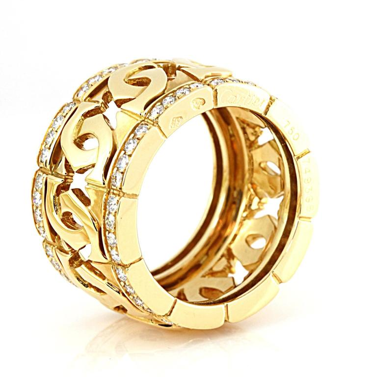 Cartier Double C Diamond Gold Ring 2
