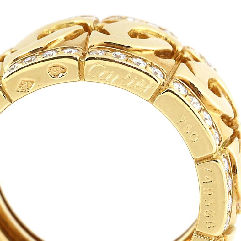 Cartier Double C Diamond Gold Ring 3