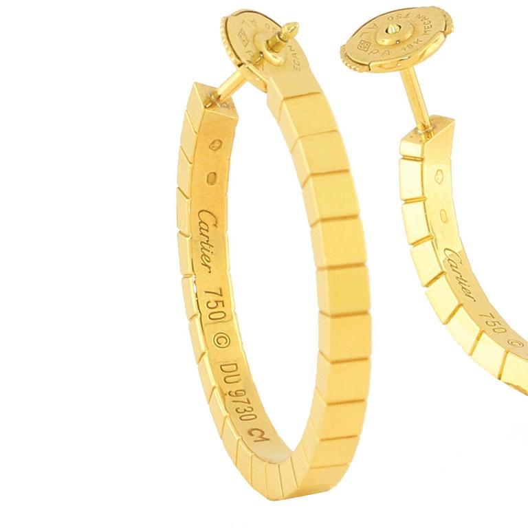 Cartier Gold Lanieres Hoop Earrings 3