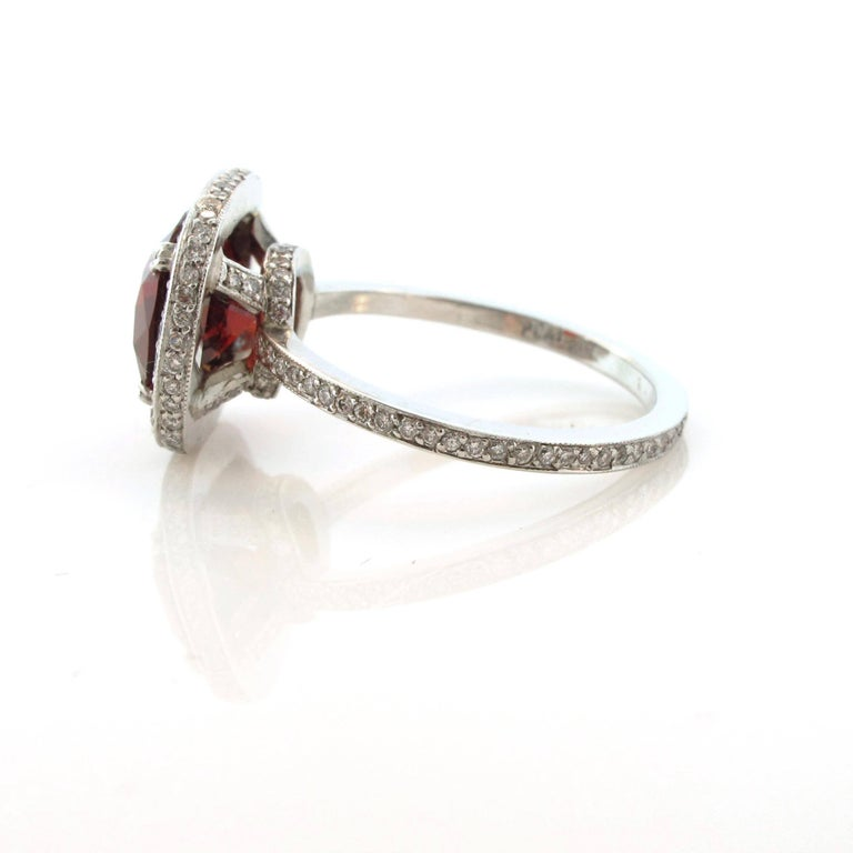 Women's or Men's 3.40 Carat, Platinum Spinel and Diamond Cocktail Ring