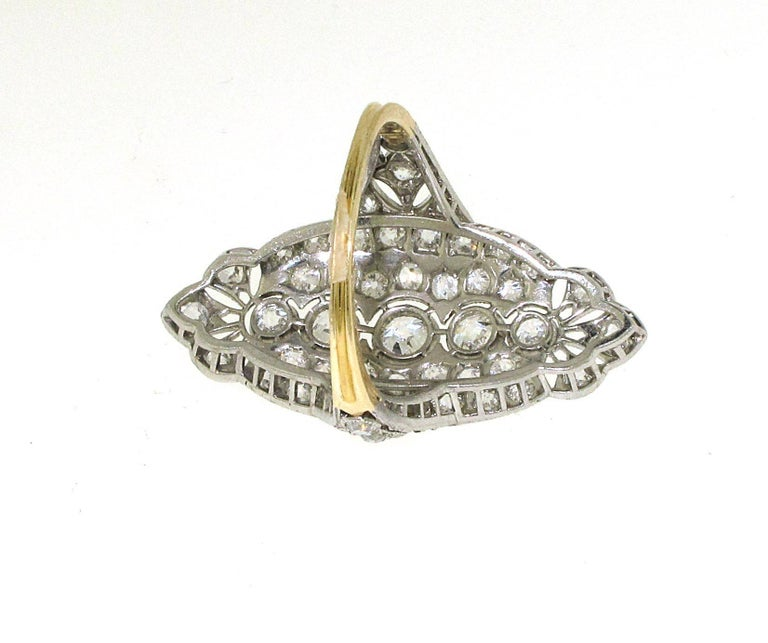 Edwardian Engagement Rings For Sale: Platinum And Diamond Edwardian Engagement/Fashion Ring For