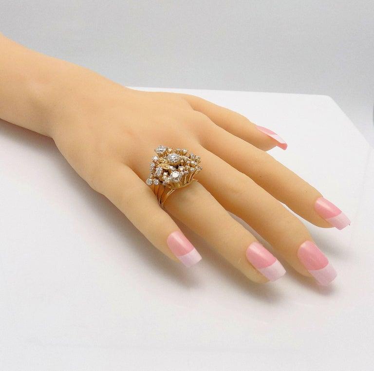 Women's Diamond Cluster Ring For Sale