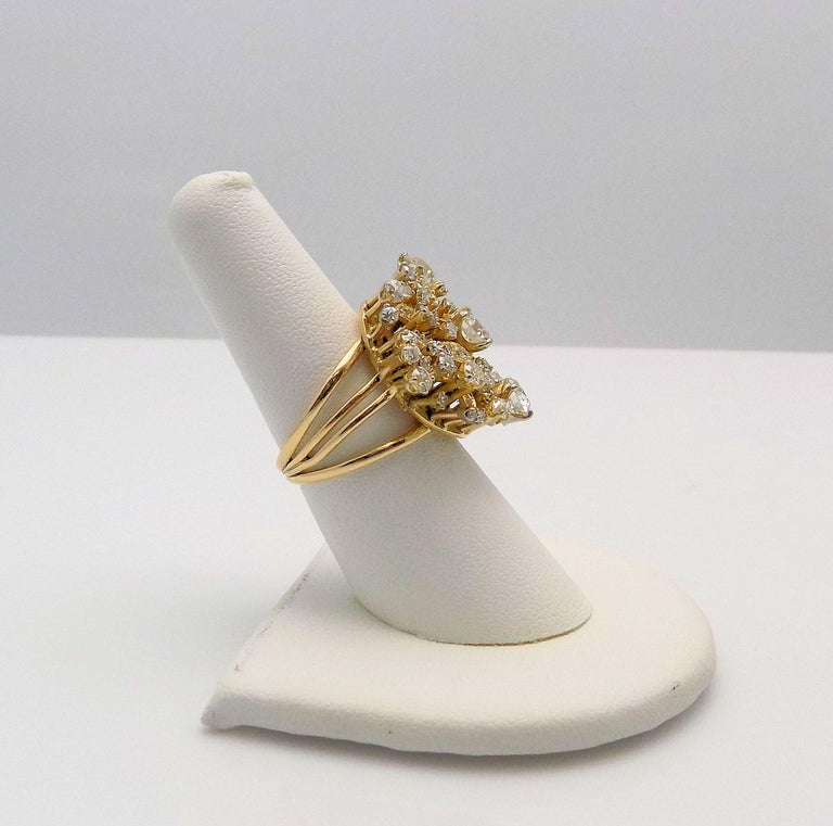 Round Cut Diamond Cluster Ring For Sale