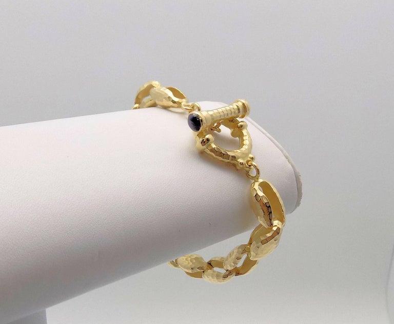 Women's Hammered Finish Oval Rolo Link Bracelet For Sale