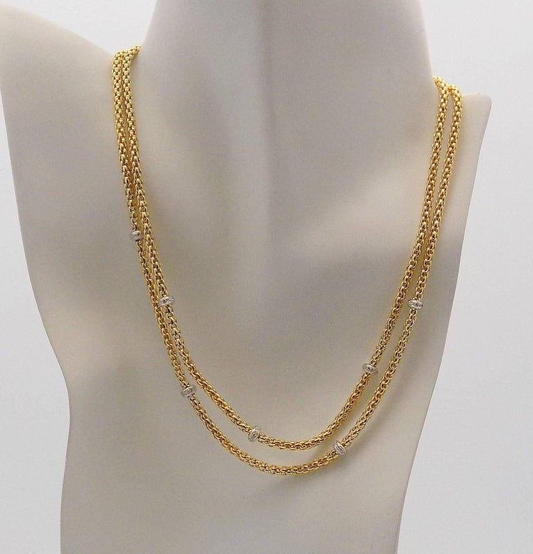 Double Strand Diamond Necklace by Fope For Sale 1
