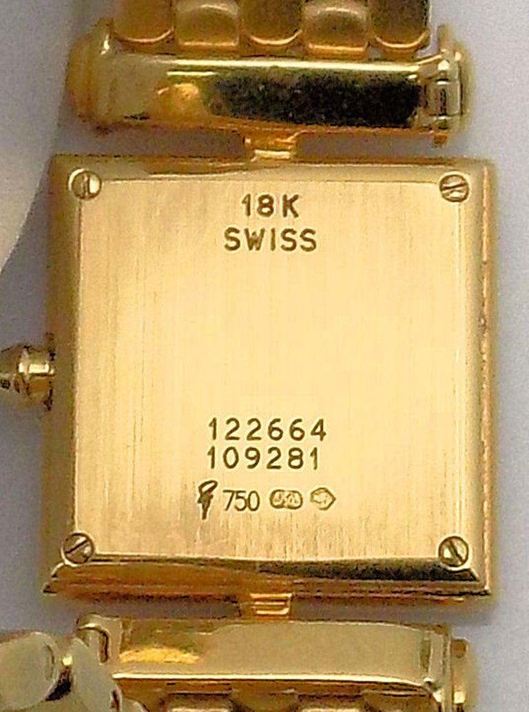 Van Cleef & Arpels Ladies Yellow Gold Diamond Classique Wristwatch For Sale 1