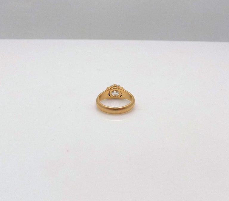 Diamond Solitaire Ring In Excellent Condition For Sale In Dallas, TX