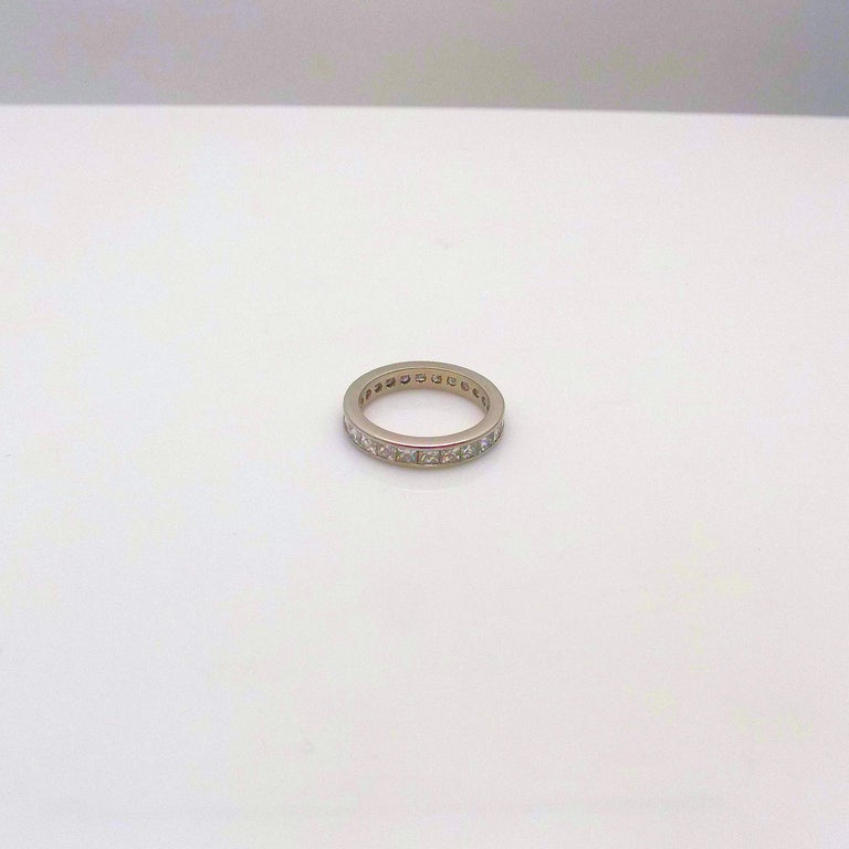 Platinum and Diamond Eternity Band In New Condition For Sale In Dallas, TX