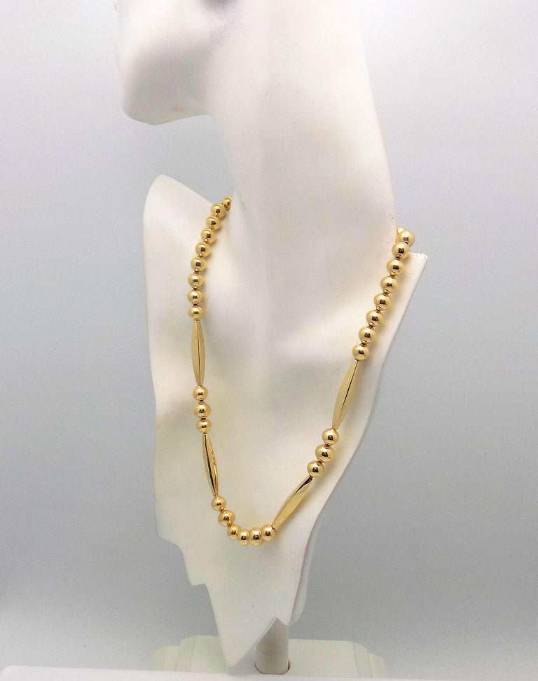Women's Gold Bead Necklace For Sale