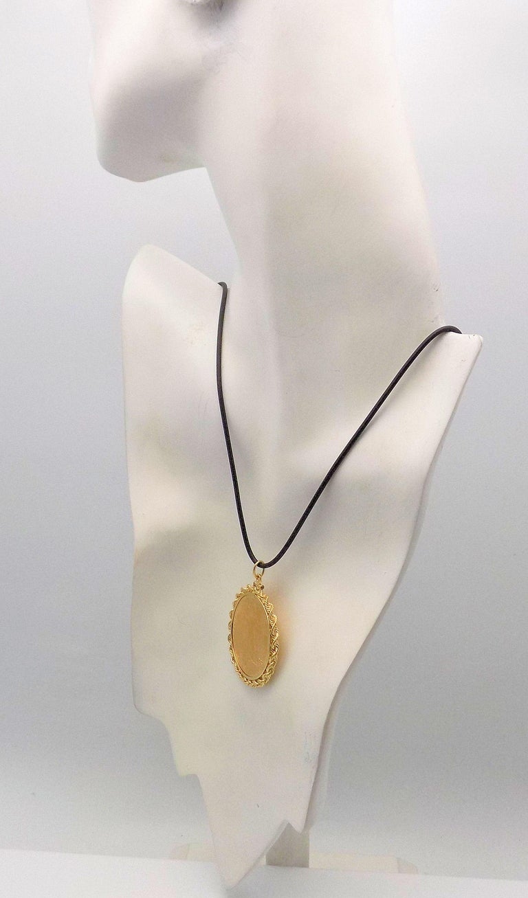 Women's or Men's Gold US 1923 $20 Coin Pendant For Sale