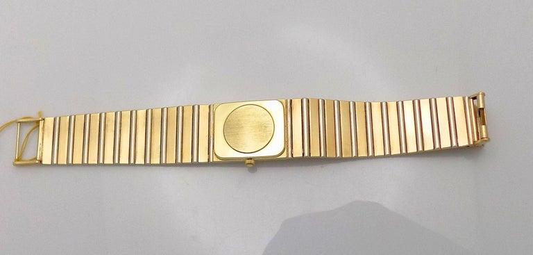 Yellow and White Gold Manual Wristwatch In Good Condition For Sale In Dallas, TX