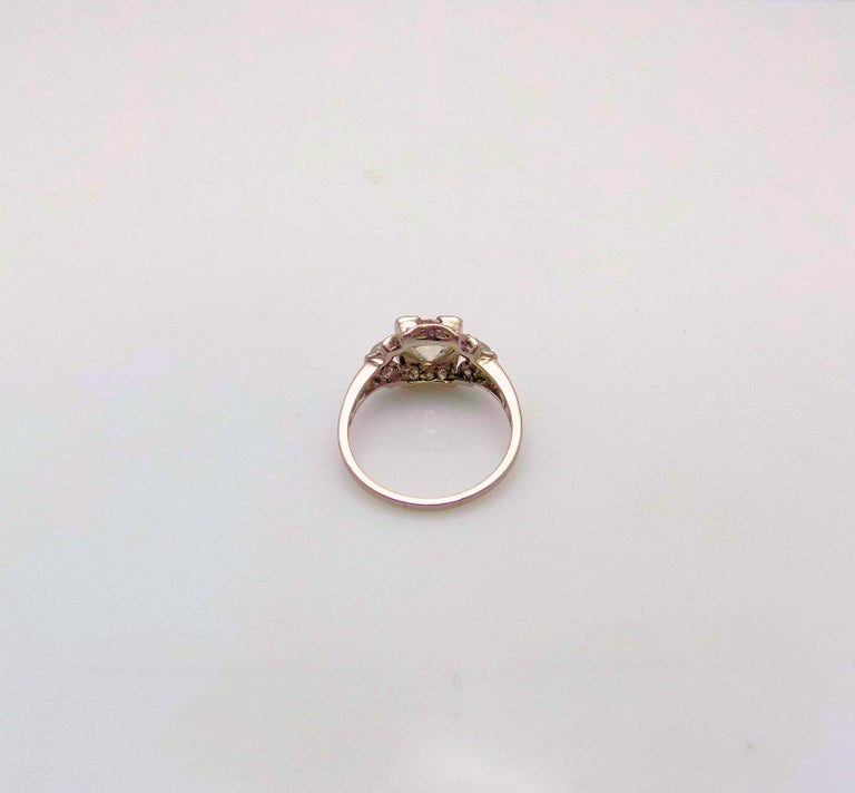 Platinum and Diamond Ring For Sale 2