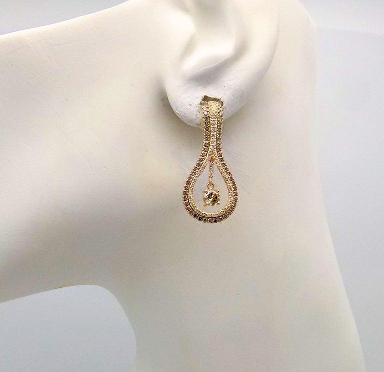 Women's Diamond Pendant and Earrings Set For Sale