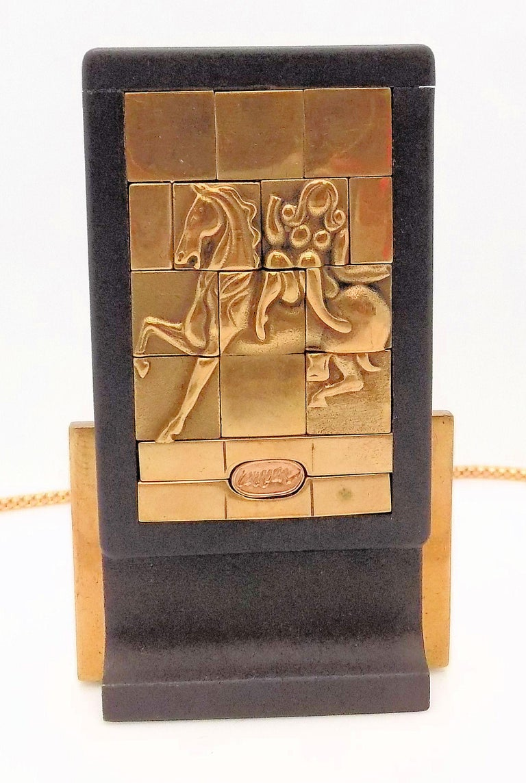 Bronze Berrocal Sculptural Puzzle Necklace, with Ring Inside, and Plaque For Sale 2