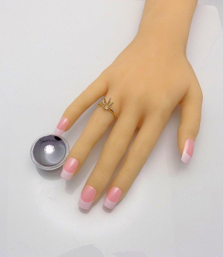 Women's GIA Certified 2.11 Carat Round Brilliant Diamond For Sale