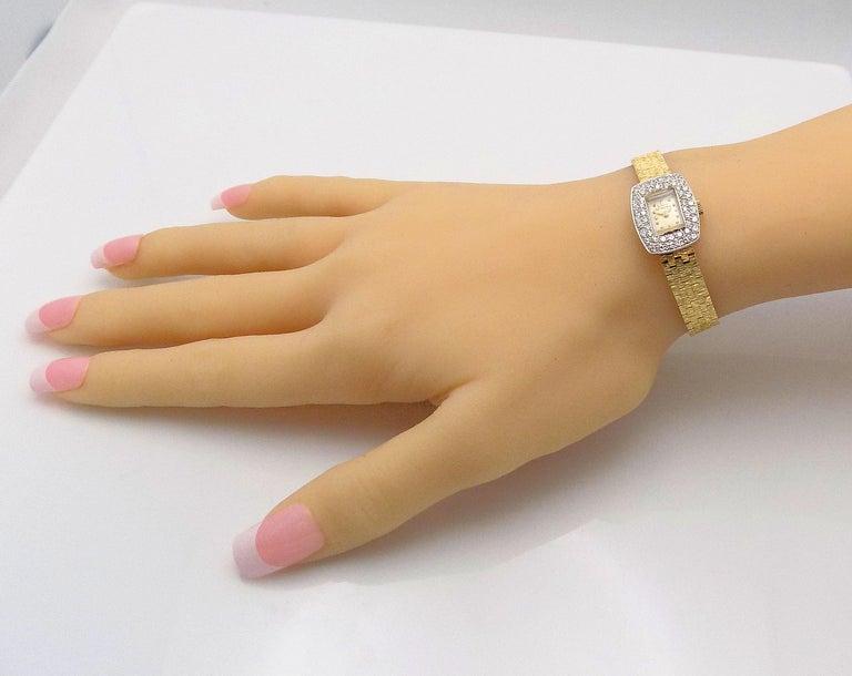 Round Cut Ladies Diamond Girard Perregaux Wristwatch For Sale