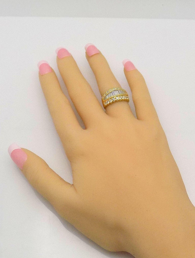Women's Tapered Baguette Diamond Band For Sale