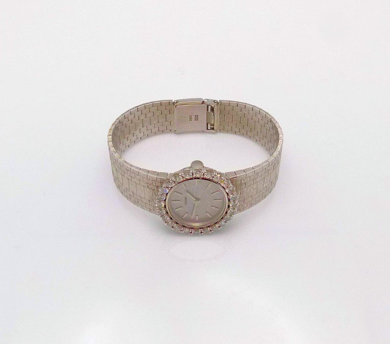 Women's Concord Ladies White Gold Diamond Wristwatch For Sale