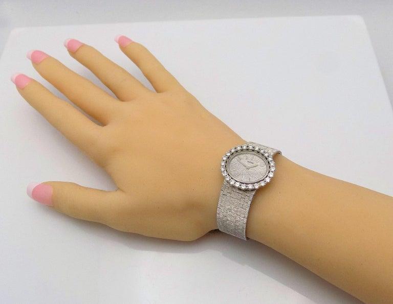 Concord Ladies White Gold Diamond Wristwatch For Sale 2