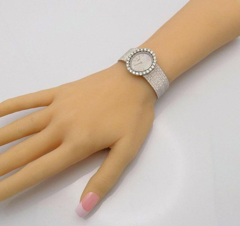 Concord Ladies White Gold Diamond Wristwatch For Sale 3