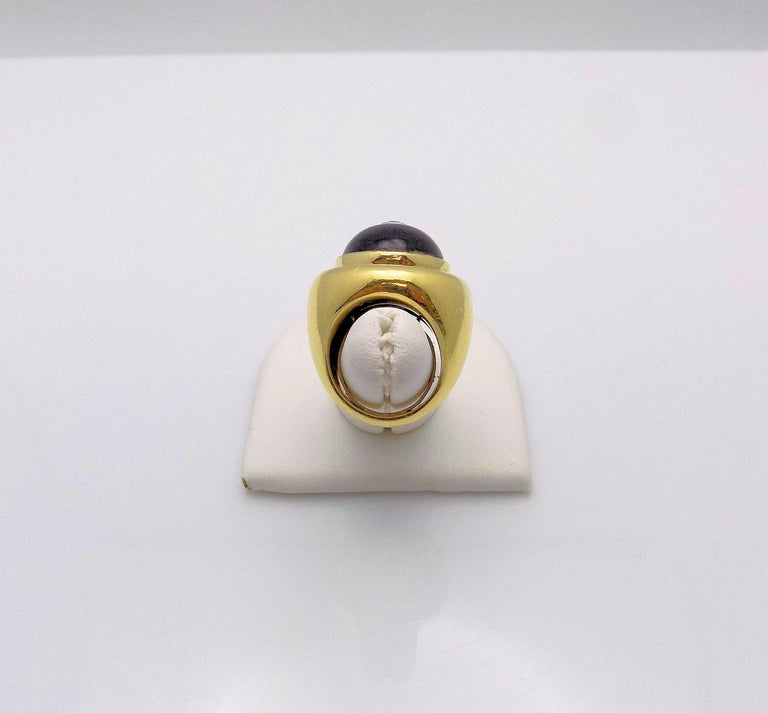 Paloma Picasso for Tiffany & Co. Black Onyx and Diamond Ring For Sale 2