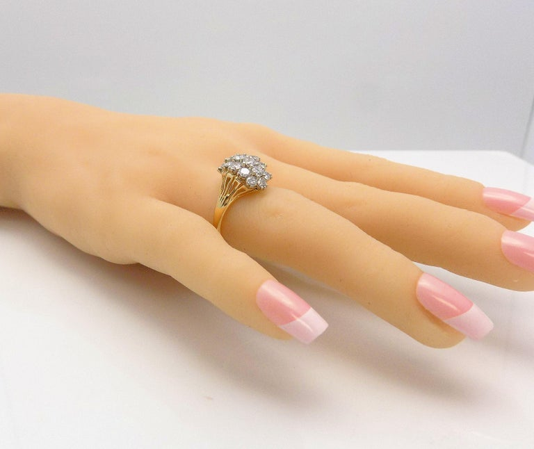 Diamond Cluster Cocktail Ring For Sale 2