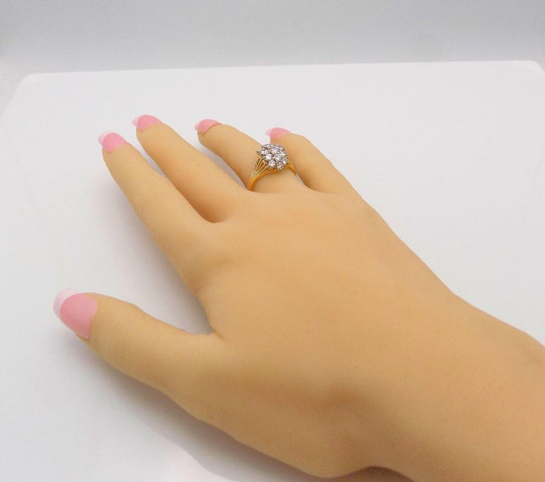 Diamond Cluster Cocktail Ring For Sale 4