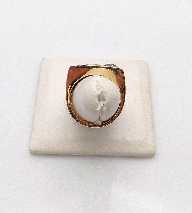 14 Karat Yellow Gold and 14 Karat White Gold Gent's Ring 1 European Cut Diamond 1.25 Carat; VS-2, K. Finger Size 8.5; 10.3 DWT or 16.02 Grams.