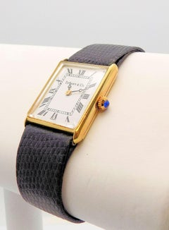 18 Karat Yellow Gold Tiffany & Co. Tank Wristwatch