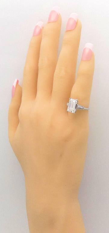 Classic 3.25 Carat Emerald Cut Diamond GIA Certified Engagement Ring 8