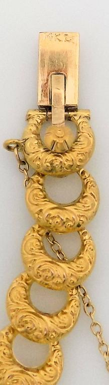 Antique Gold and Diamond Bracelet by Krementz For Sale 6