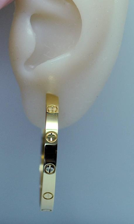 Cartier Yellow Gold Large Love Hoop Earrings   3