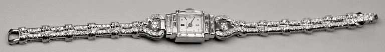 Oscar Heyman Hamilton Platinum Diamond Quartz Wristwatch 9