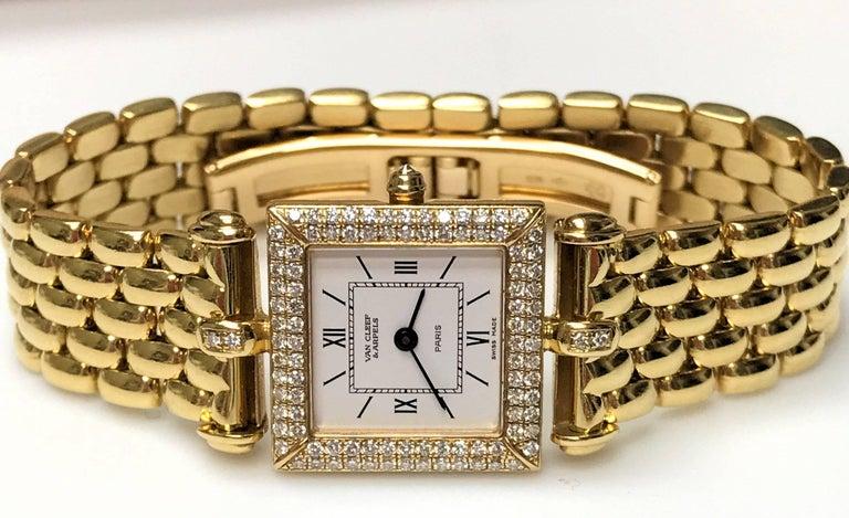 Van Cleef & Arpels Ladies Yellow Gold Diamond Classique Quartz Wristwatch 2