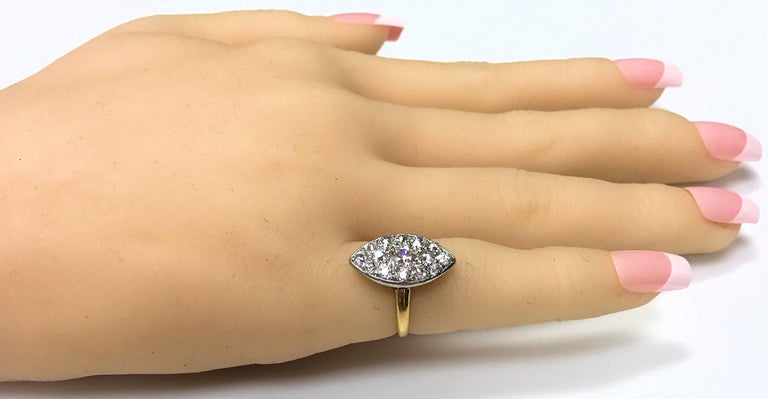 Antique Edwardian Tiffany Diamond Platinum Gold Ring 4