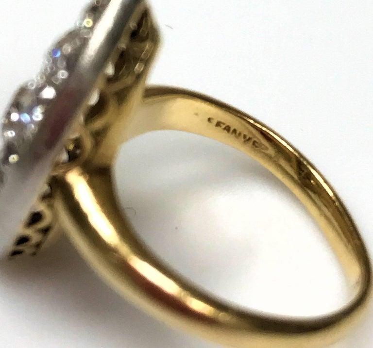 Antique Edwardian Tiffany Diamond Platinum Gold Ring For Sale 1