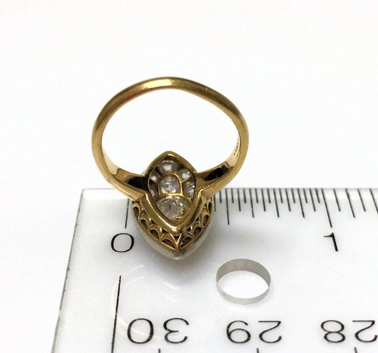 Antique Edwardian Tiffany Diamond Platinum Gold Ring 8